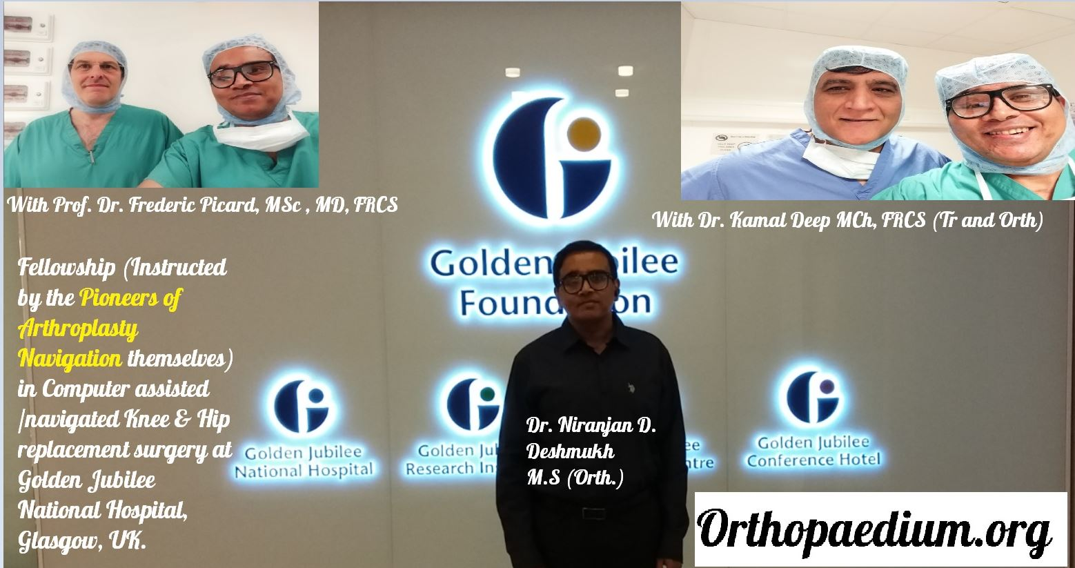 Dr Niranjan Deshmukh|Orthopedic Surgeon|Spine|Hip Ankle Knee