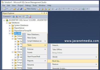 Cara Backup dan Restore Database SQL Server