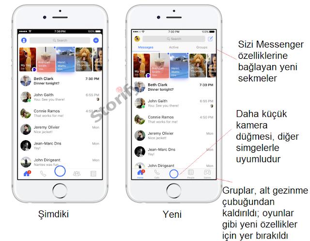 Facebook Messenger güncellemeleri yeni