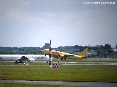 Flugzeug beim Start beobachten