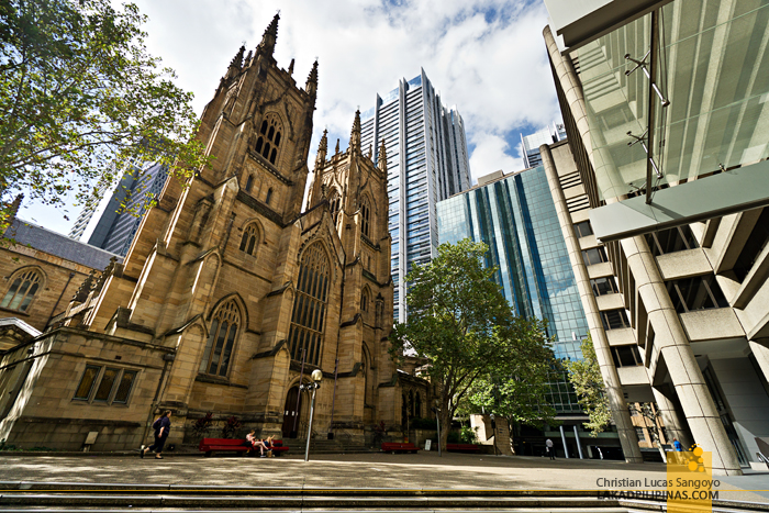 DIY Walking Tour Sydney St. Andrew's Cathedral