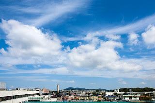 病室から見える北の空