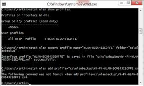 how to find internet password cmd