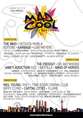 Mad Cool Festival horarios cartel