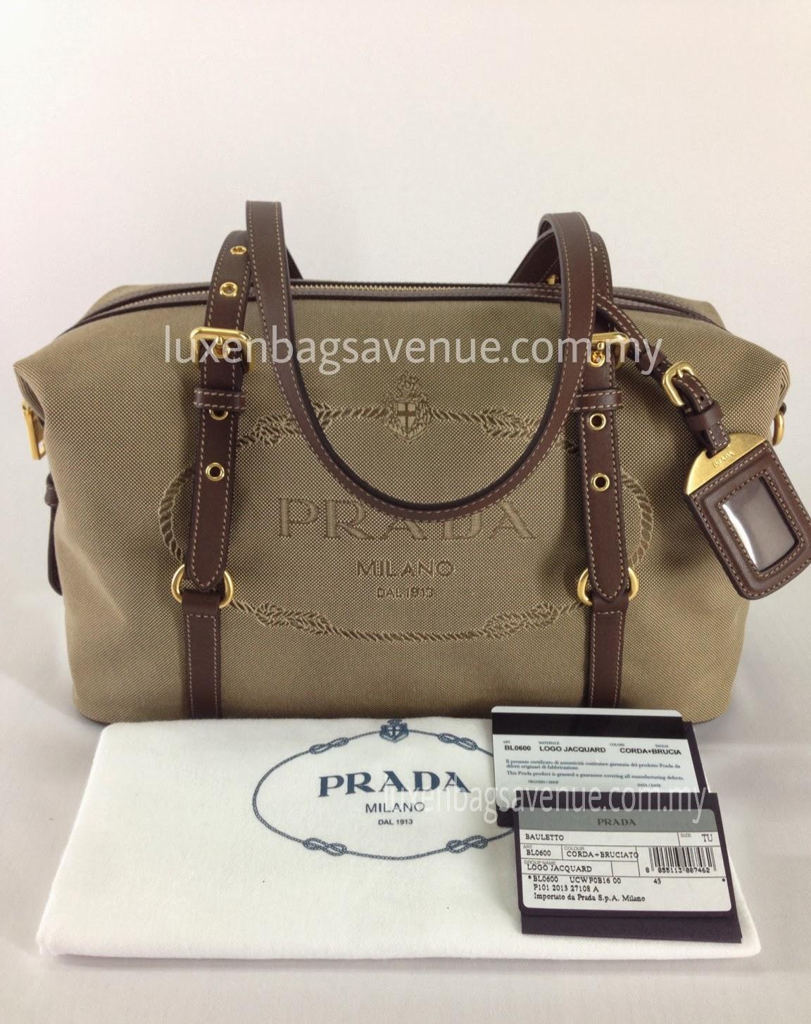 f6269fdb9ee375 Prada Bauletto Logo Jacquard Satchel Shoulder Bag BL0600 - Corda+Brucia ( READY STOCK) - SOLD