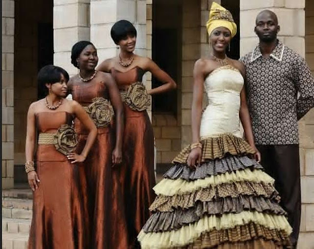 African Bridal Wear Photo