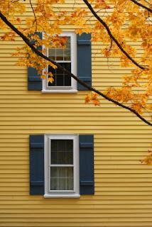 Home exterior in the autumn