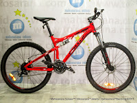 Sepeda Gunung United FX77 Command Full Suspension Aloi 24 Speed Fork Lock Out 26 Inci