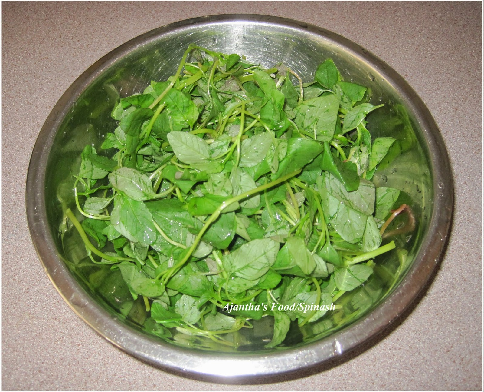 Ajantha's Food/Spinach