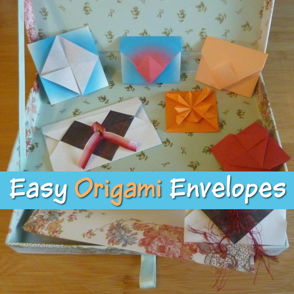 Easy Paper Origami Envelope Designs for you to Make Folding envelopes craft crafting papercrafting