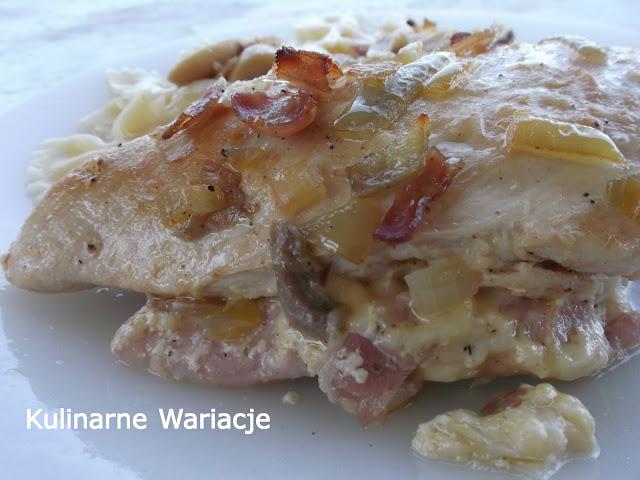 pierś z kurczaka zapiekana w sosie