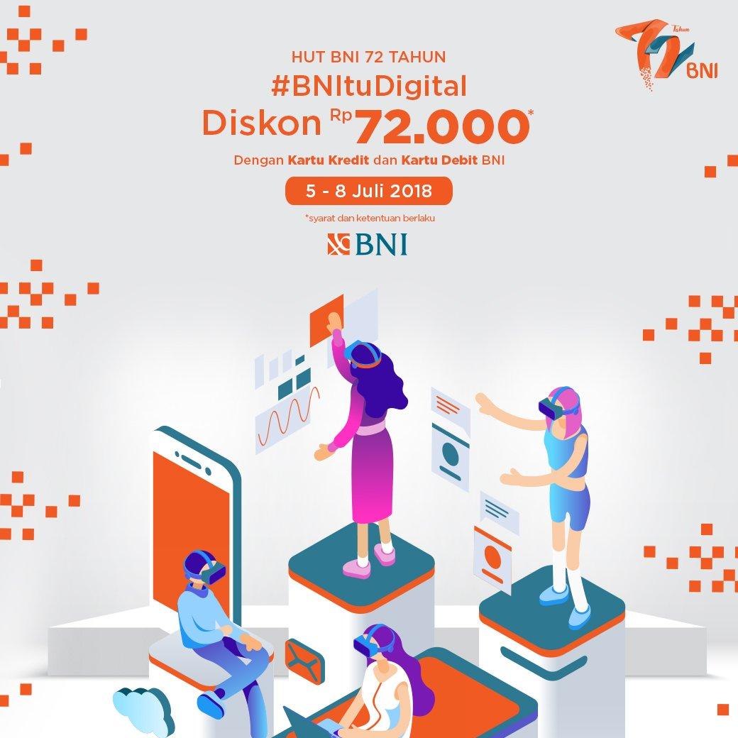 JD.ID - Promo Diskon 72 Ribu Pakai BNI Card (05 - 08 Juli 2018)