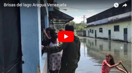 Familias de Brisas del Lago en Aragua deben vivir con el agua hasta las rodillas