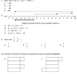 Soal UKK Matematika Kelas 4 Th 2017