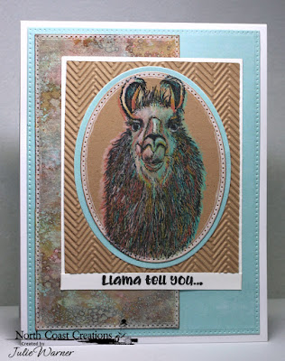 North Coast Creations Stamp Set: Llama Tell You, Paper Collection: Sweet Shoppe, ODBD Custom Dies: Pierced Rectangles, Ovals, Pierced Ovals