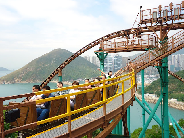 Ed in extreme rides at Ocean-Park Hong kong
