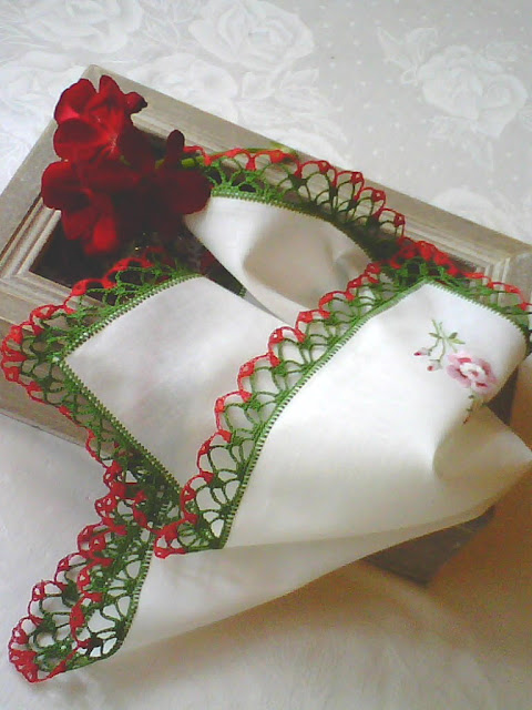 Chusteczka na  Boże Narodzenie.