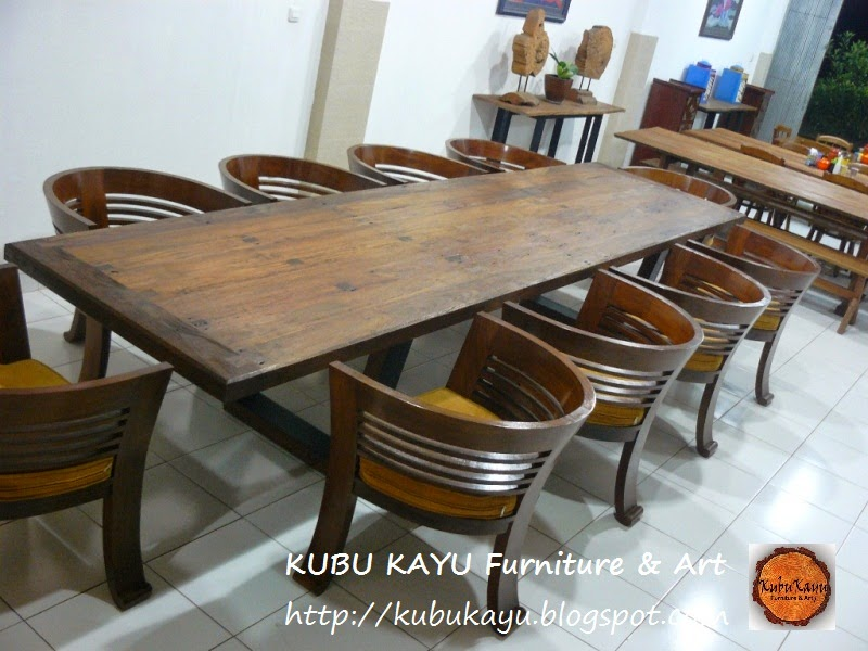 Dining Table: Recycled Railroad Tie Dining Table