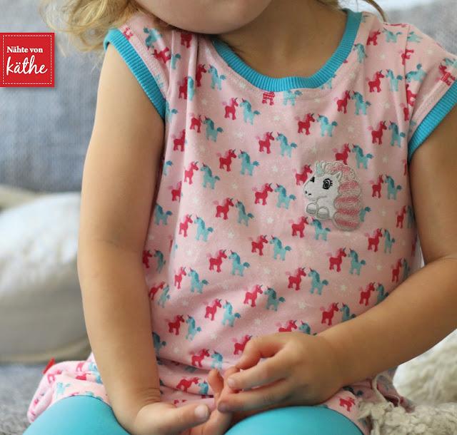 Trägerkleid von Klimperklein aus Jersey Lieblingsfreunde von Tante Ema und Beinschmeicheleien von Rosarosa