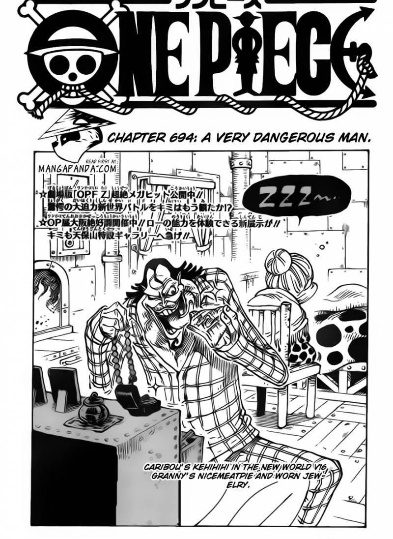 One Piece Ch 694: The Most Dangerous Man