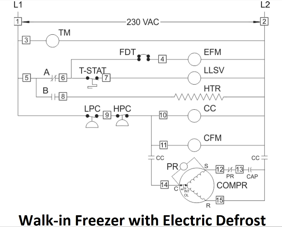 wiring diagram walk in freezer [ 1105 x 887 Pixel ]