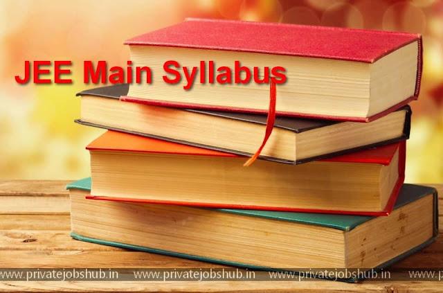 JEE Main Syllabus
