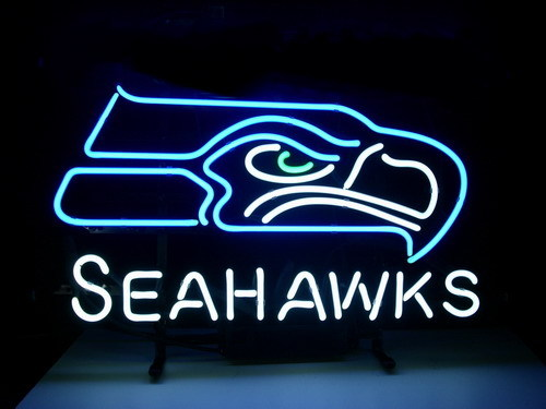 Wiki Neon Sign Blog Nfl Seattle Seahawks Football Beer