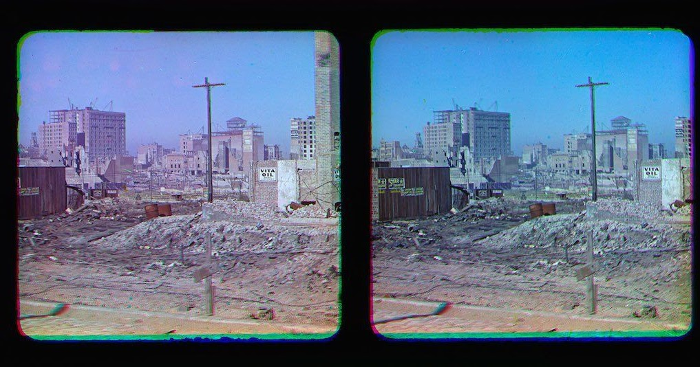 Earliest Known Color Photographs of San Francisco After the 1906 Earthquake
