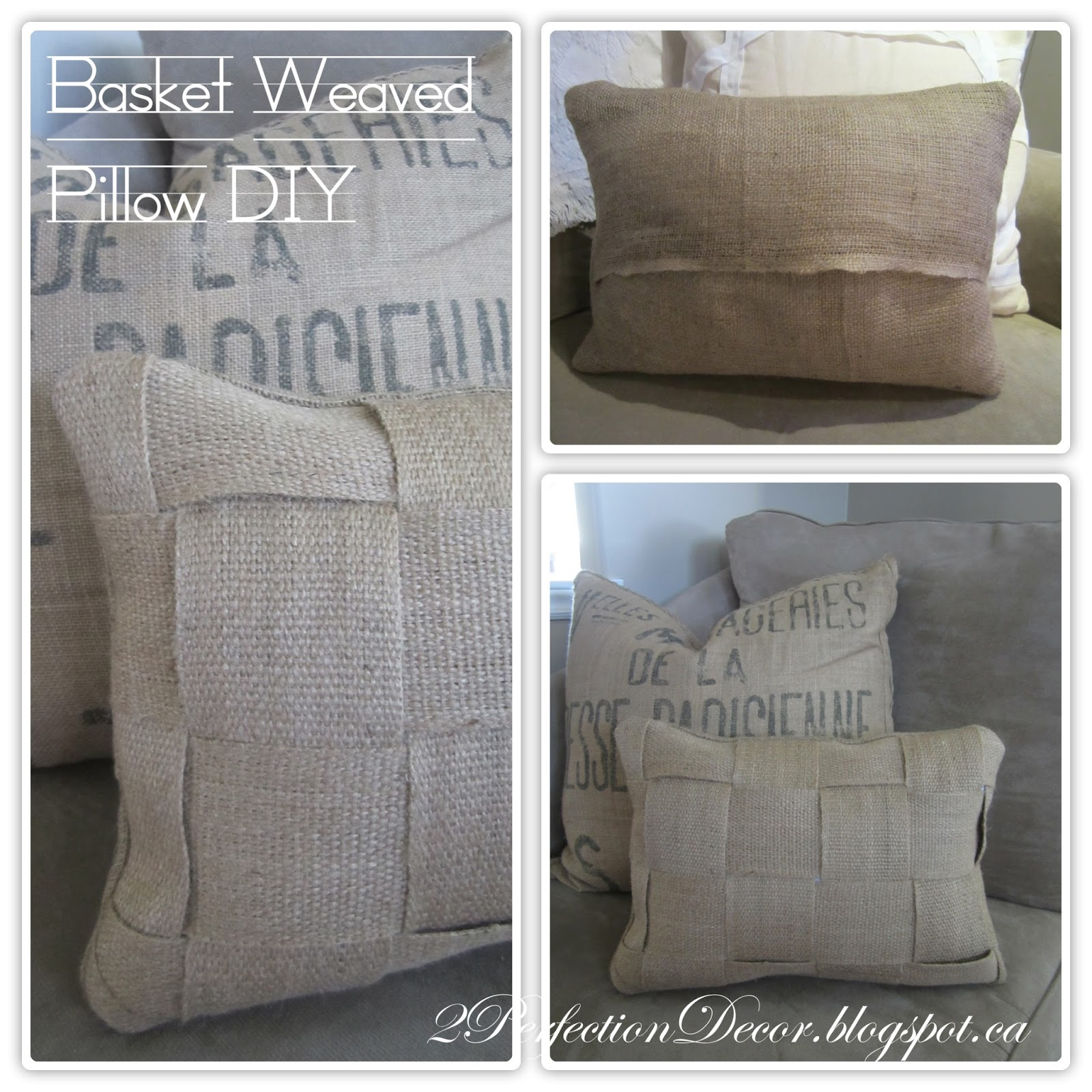 2Perfection Decor DIY Basket Weaved Lumbar Pillow Cover