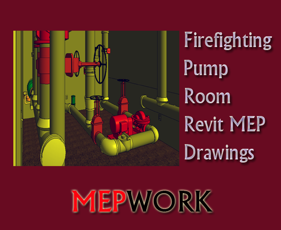 Download All Revit MEP Drawings for a Firefighting Pump Room - rvt files for free