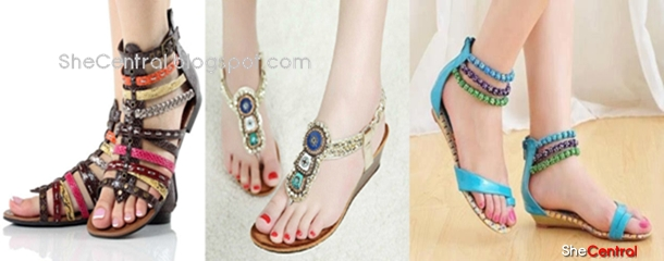 flat summer shoes braided sandals footwear for girls