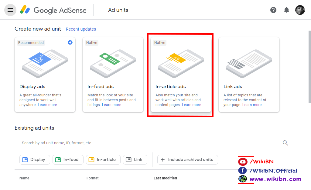 adsense in article ads setup, in article ad for blogger