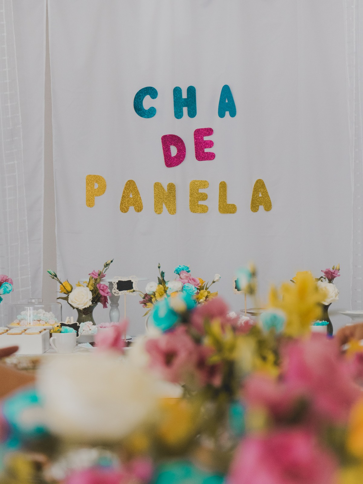 decoração candy color chá de panela