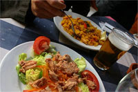 Try Spain's National Dish, Paella when you bike Spain!