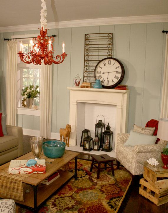 * Remodelaholic *: Beach Themed Living Room