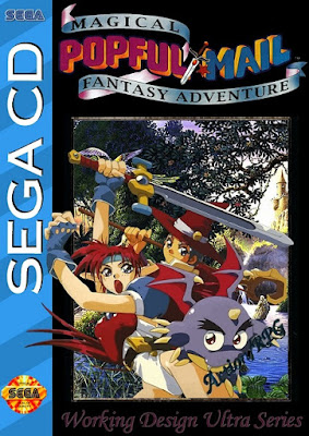 Front cover of Popful Mail: Magical Fantasy Adventure for the Sega CD add-on console.