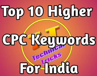 Top 10 Higher CPC Keywords For India