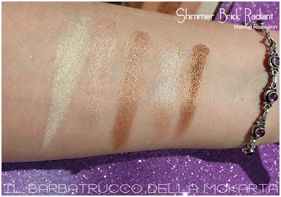 SWATCHES SHIMMER BRICK HIGHLIGHTER - RADIANT, Contouring & Highlighting - Makeup Revolution