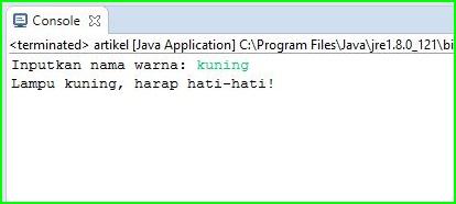 Program Java - Menentukan Rambu Lalu Lintas Menggunakan Switch-Case