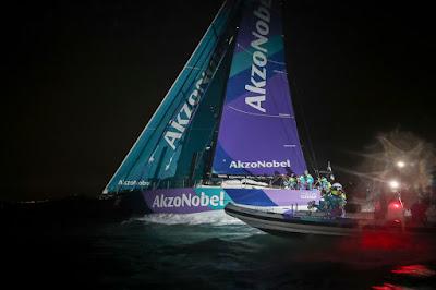 Akzonobel vainqueur de la Volvo Ocean Race à Auckland