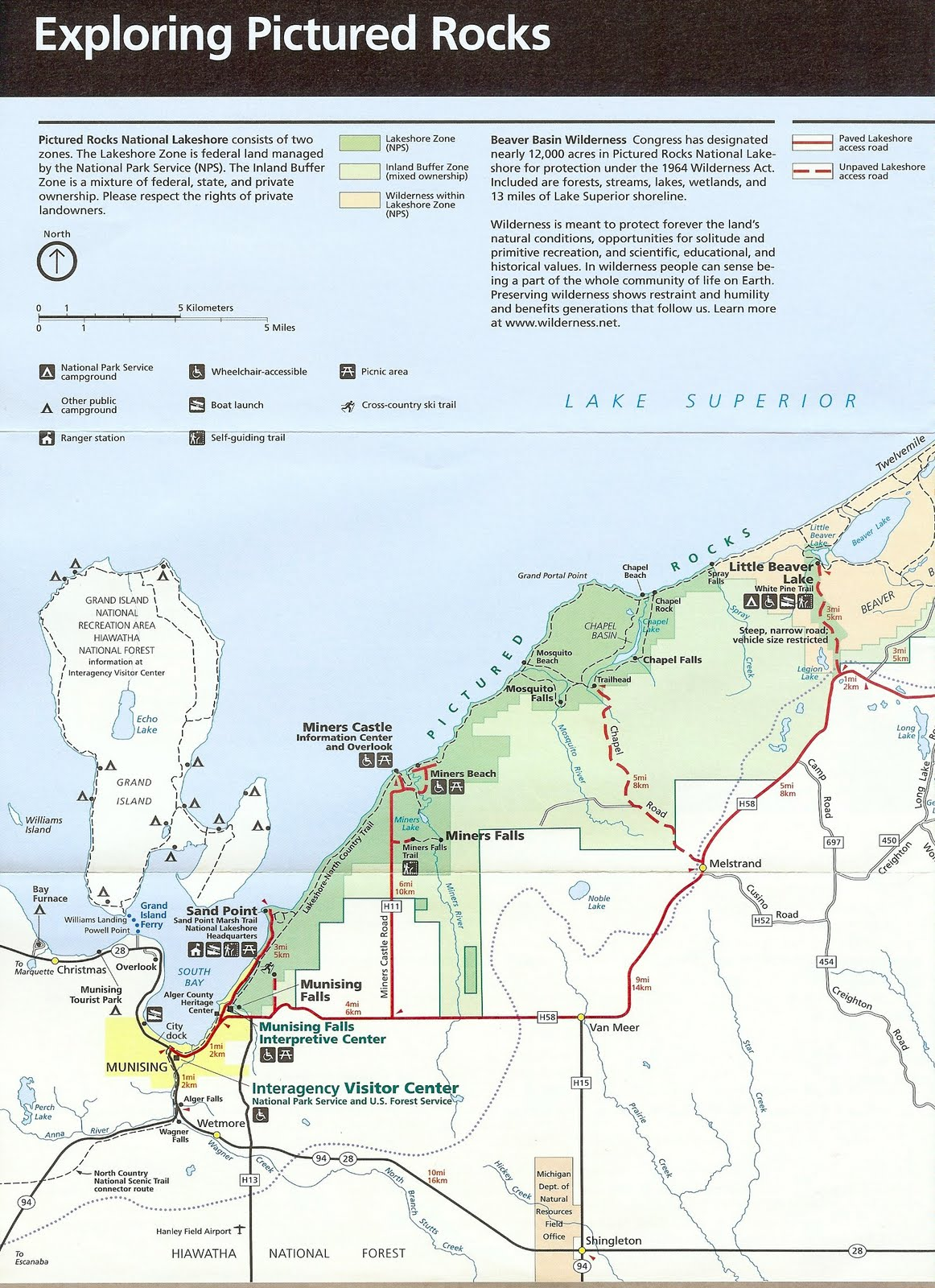 Picture Rocks Michigan Map.It S Fun 4 Me Michigan Vacation Pictured Rocks National Park