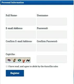 Formulir pendaftaran GuruClix