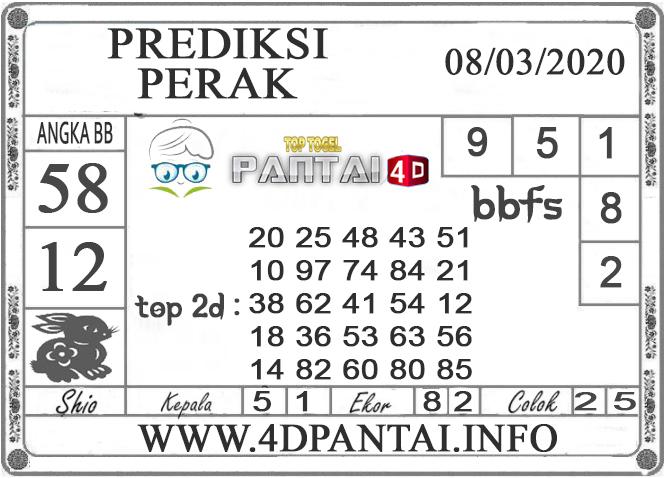 PREDIKSI TOGEL PERAK PANTAI4D 08 MARET 2020