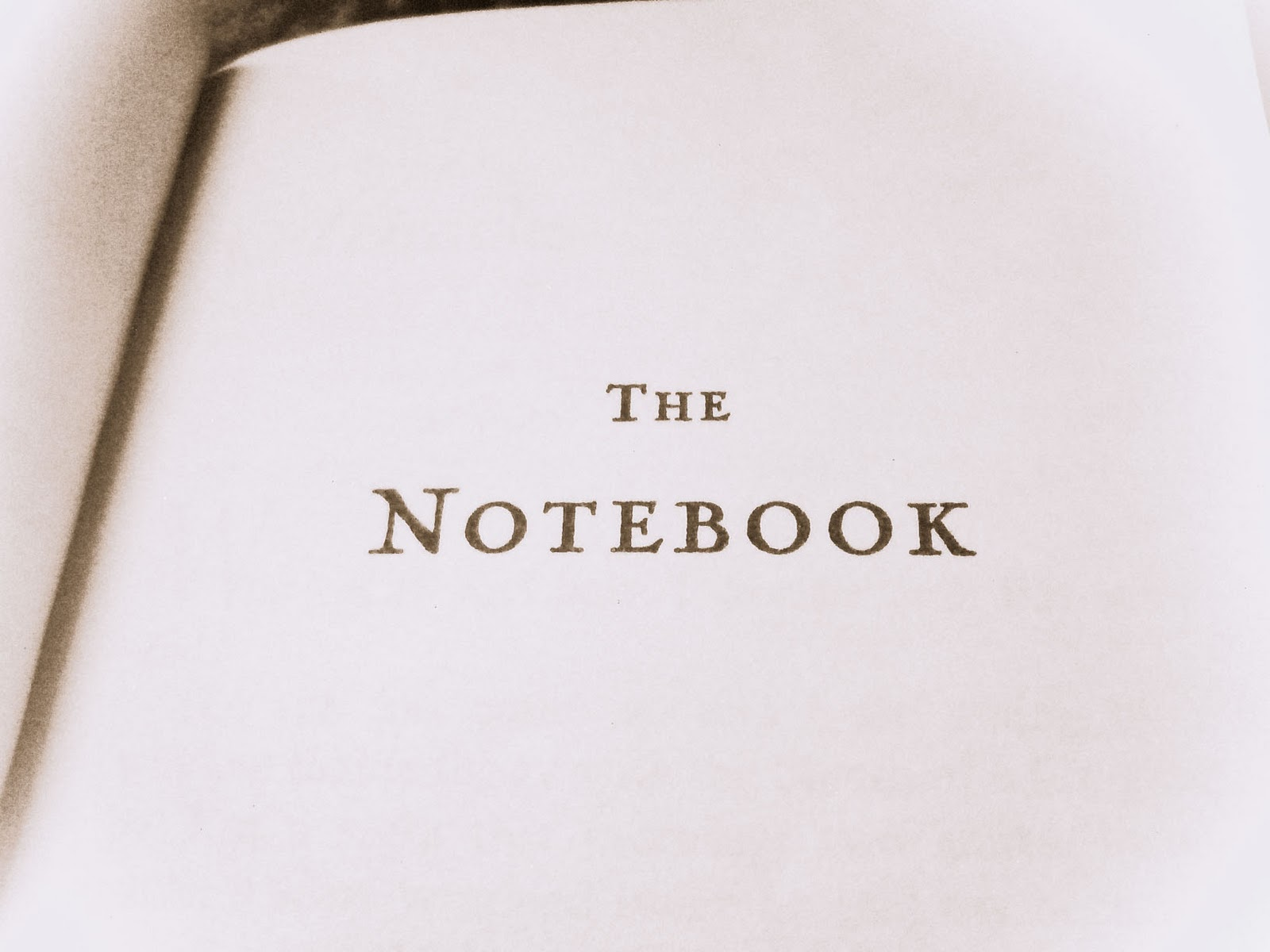 Nicholas the sparks book notebook