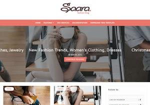 Saara Fashion Blog Blogger template responsive Free