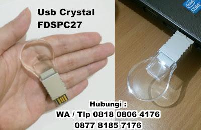 Jual USB Lampu FDSDC27, USB LIGHTBULB / LAMPU, Flashdisk Crystal Round