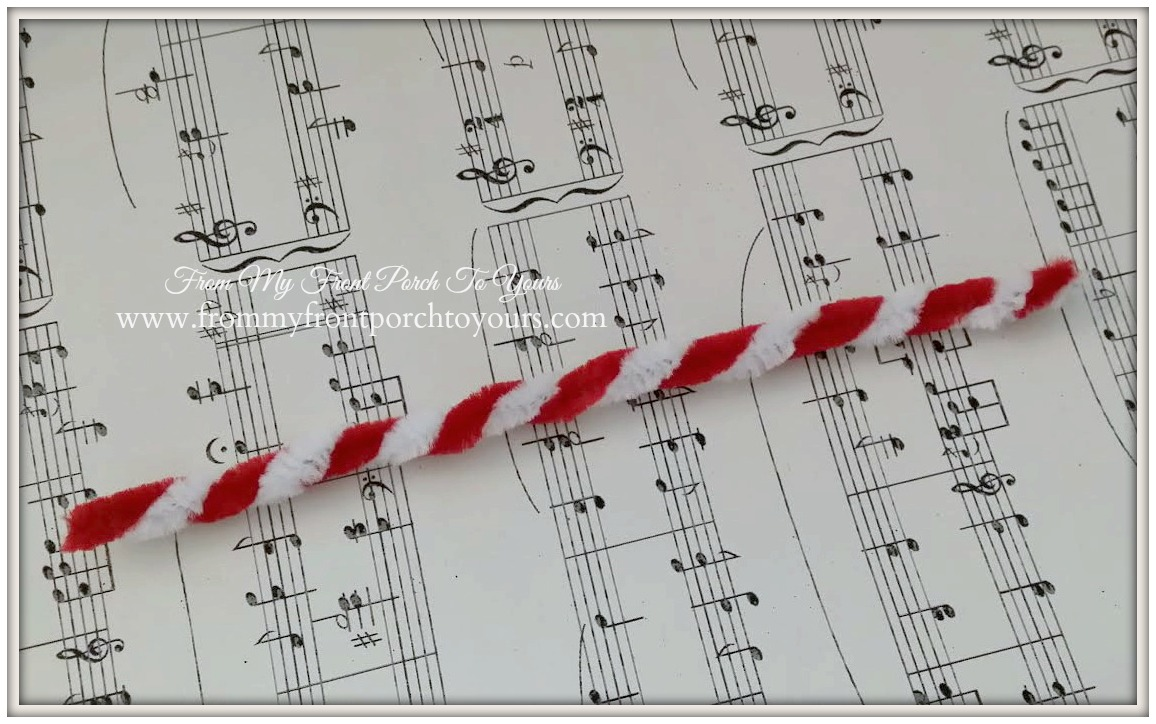 Pipe Cleaner Candy Cane Tutorial- From My Front Porch To Yours
