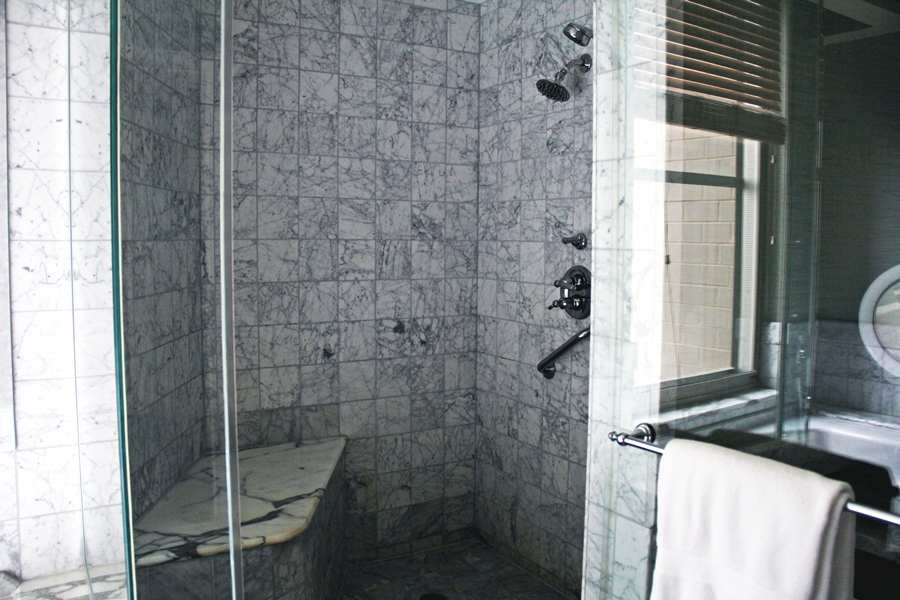 marble shower luxury