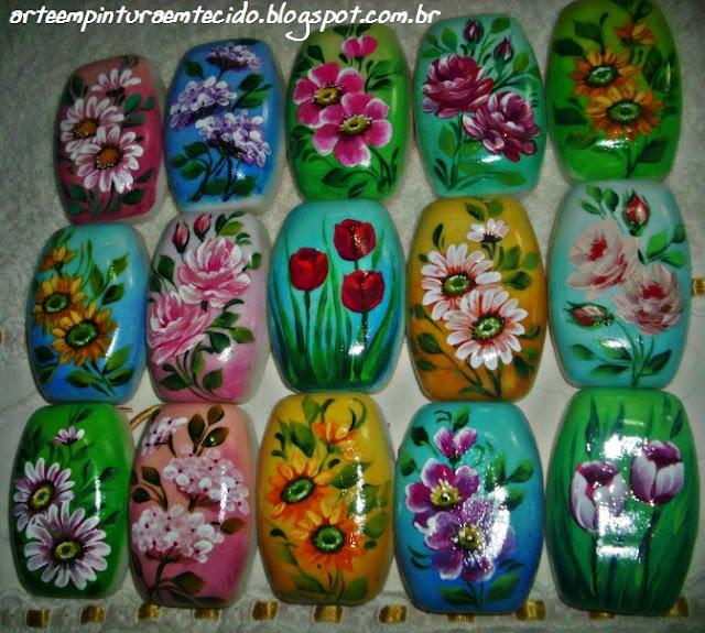 pintura em sabonetes