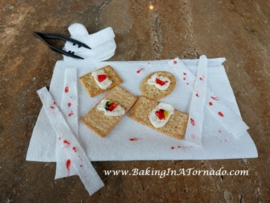 Bloody Bandaids for Halloween | www.BakingInATornado.com |  #recipe #Halloween